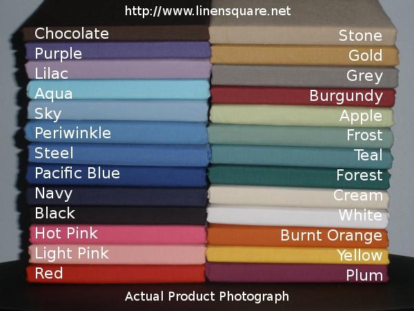LinenSquare colour chart