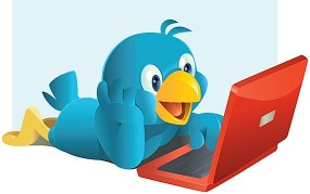 Twitter bird with PC