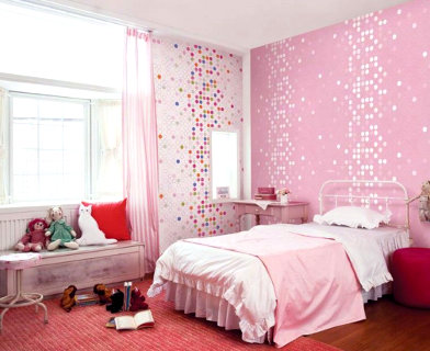 light pink color bedroom
