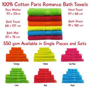 Paris Romance Bath Towels