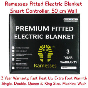 Ramesses fitted electric blanket with 50cm deep wall